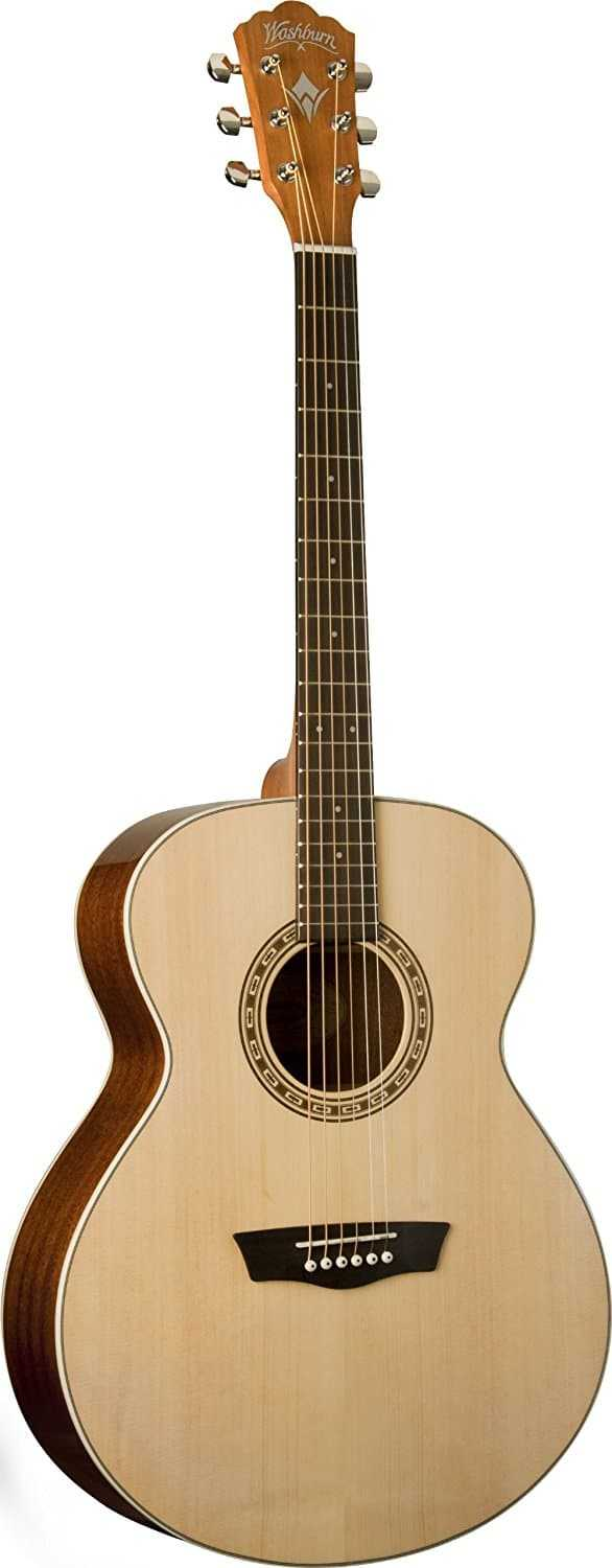 Washburn-Harvest-Series-WG7S-Acoustic-Guitar,-Natural-Gloss